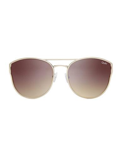 Quay Australia Cherry Bomb 140mm Cat-Eye Sunglasses-GOLD-One Size