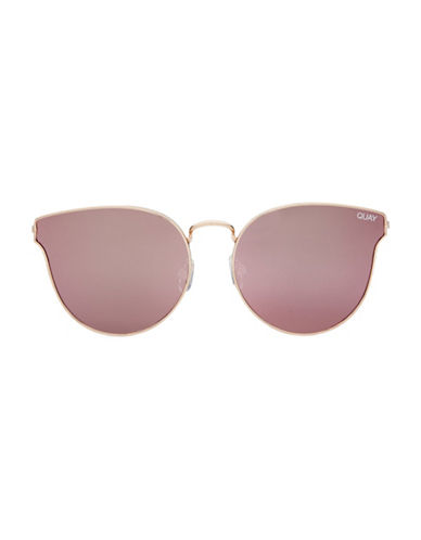 Quay Australia All About Love 150mm  Cat-Eye Sunglasses-ROSE GOLD-One Size