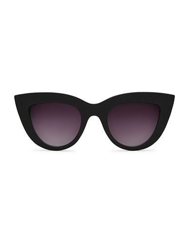 Quay Australia Kitti 145mm Cat Eye Sunglasses-BLACK-One Size