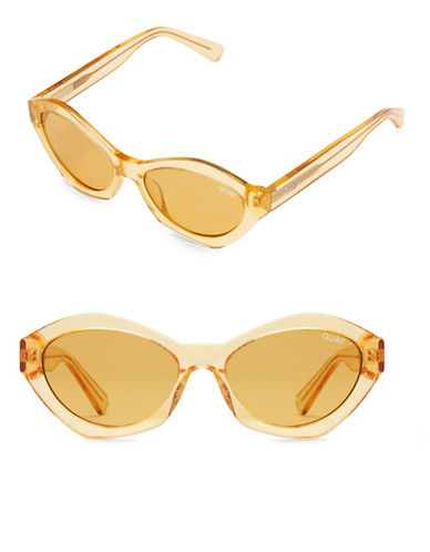 Quay Australia As If 50MM Geometric Cat Eye Sunglasses-ORANGE-One Size