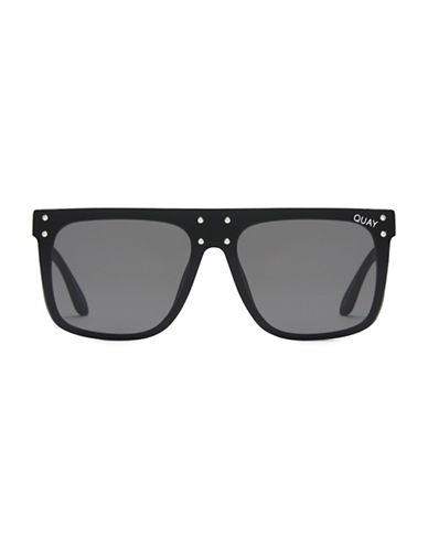 Quay Australia 55MM Kylie Square Sunglasses-BLACK-One Size