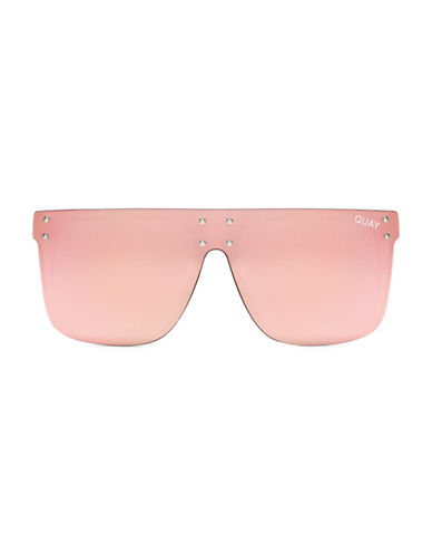 Quay Australia 55MM Kylie Square Sunglasses-PINK-One Size