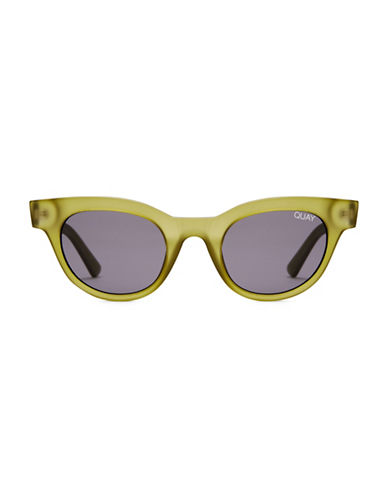 Quay Australia 47MM Kylie Cat-Eye Sunglasses-OLIVE-One Size