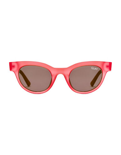 Quay Australia 47MM Kylie Cat-Eye Sunglasses-PINK-One Size