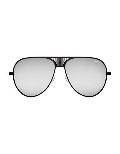 Quay Australia 58MM Kylie Aviator Sunglasses-BLACK-One Size