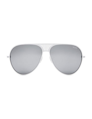 Quay Australia 58MM Kylie Aviator Sunglasses-WHITE-One Size