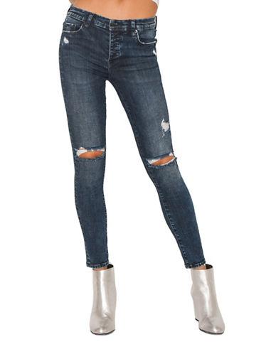 Neon Blonde Bombshell High Rise Skinny Jeans-VANITY-28