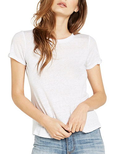 Bardot Brixton Heathered Tee-WHITE-Medium