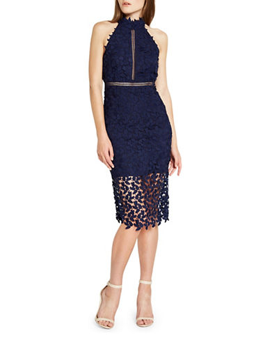 Bardot Gemma Lace Dress-BLUE-Large