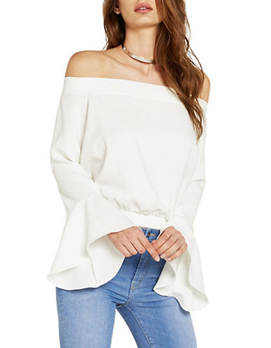 Bardot Elson Off-The-Shoulder Top-WHITE-X-Small