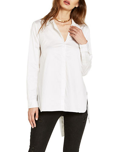 Bardot Alie Tie-Back Shirt-WHITE-X-Small