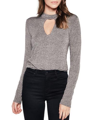 Bardot Lena Choker Sweater-GREY-Medium 89302265_GREY_Medium