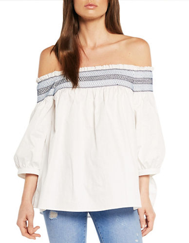 Bardot Belize Smocked Top-WHITE-Medium 89119374_WHITE_Medium