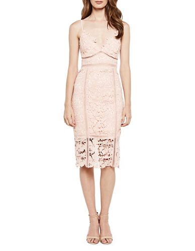 Bardot Botanica Lace Dress-BEIGE-Small