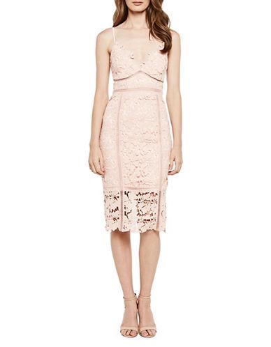 Bardot Botanica Lace Dress-BEIGE-X-Small