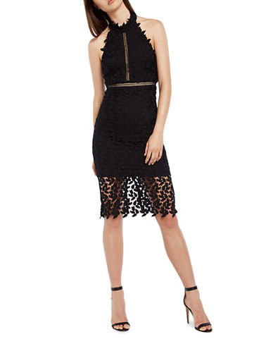 Bardot Gemma Lace Dress-BLACK-X-Small