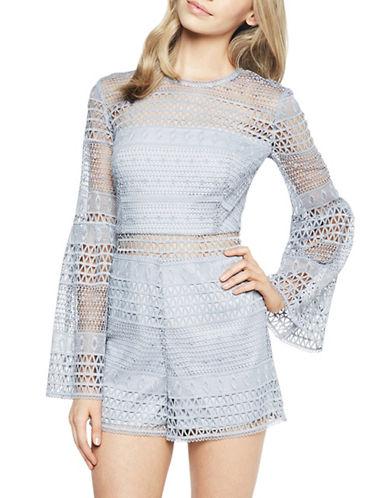 Bardot Kristy Lace Playsuit-PURPLE-Large