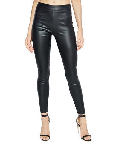 Bardot Raven Pullon Pleat Leggings-BLACK-Medium