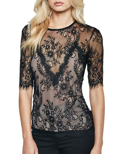 Bardot Luna Lace Top-BLACK-Medium