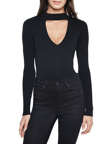 Bardot Keyhole Knit Bodysuit-BLACK-Medium 89610350_BLACK_Medium