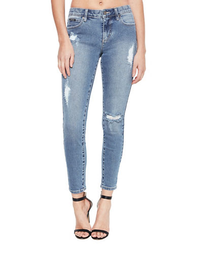 Bardot PMaxx Hayley Hipster Jeans-BLUE-Large