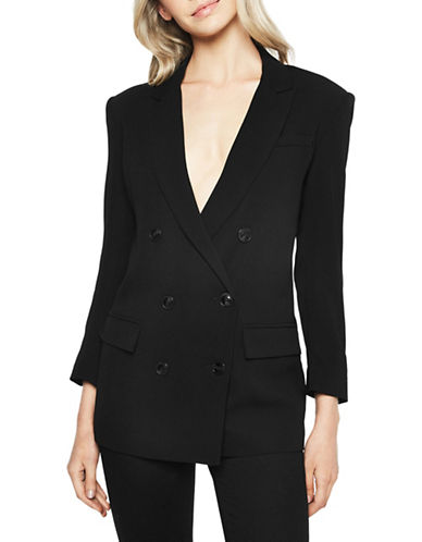 Bardot Boyfriend Double-Breasted Blazer-BLACK-Small