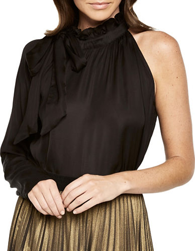 Bardot One-Shoulder Top-BLACK-Medium