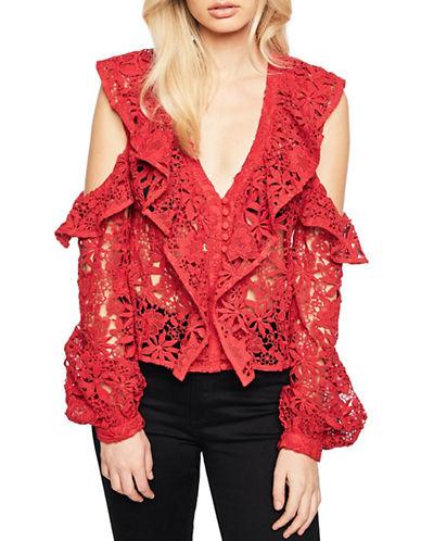 Bardot Valentina Lace Top-RED-Large