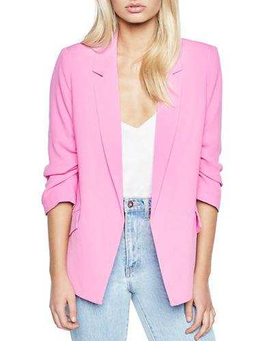 Bardot Tuck-Sleeve Blazer-PINK-Large