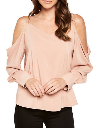 Bardot Cold-Shoulder Blouse-BLOOM-Large