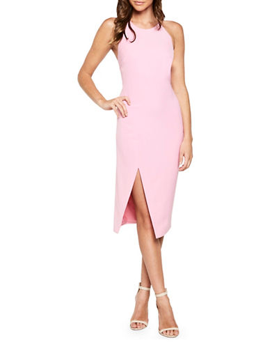 Bardot Cara Asymmetrical Dress-PINK-X-Small