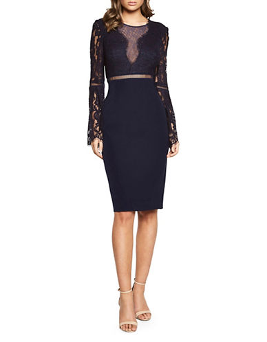 Bardot Faedra Lace Dress-NAVY-Large