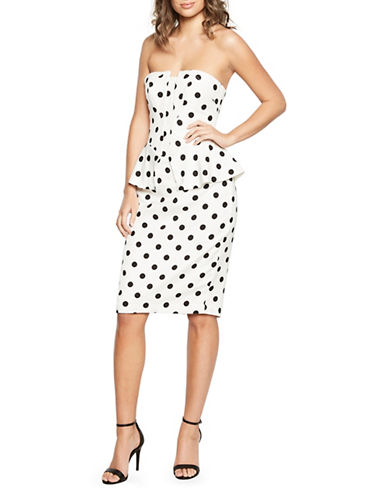 Bardot Suri Peplum Dress-WHITE-Medium