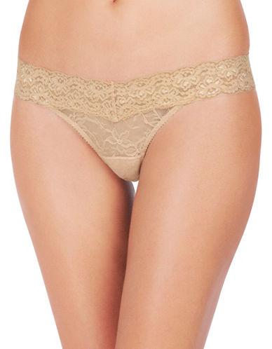 Heidi By Heidi Klum Stretch Lace Thong-BEIGE-Small