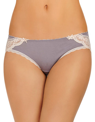 Heidi By Heidi Klum Lace-Trimmed Modal Hipster-LIGHT PURPLE-Medium