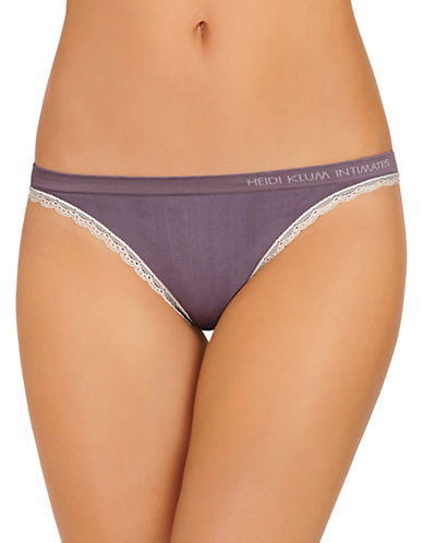 Heidi By Heidi Klum Seamless Thong-PURPLE-Small