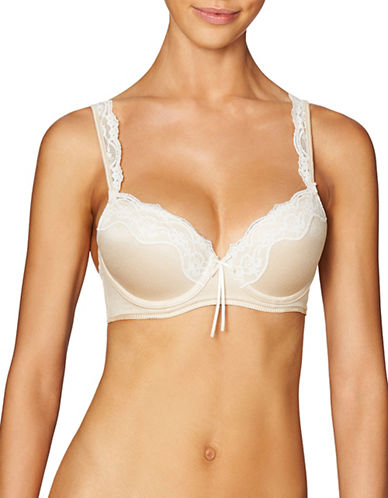 Heidi By Heidi Klum Lace Contour Full Coverage Bra-BEIGE-38B