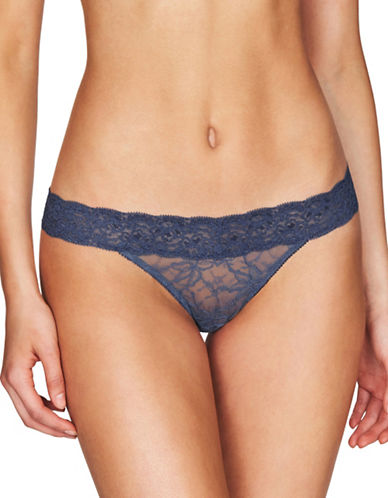 Heidi By Heidi Klum Stretch Lace Thong-BLUE-Large