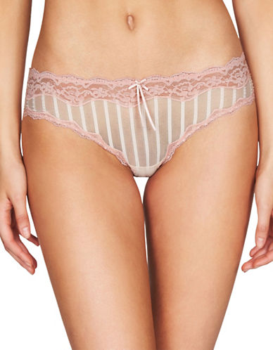 Heidi By Heidi Klum Lace Trim Bikini Briefs-CORAL-Medium