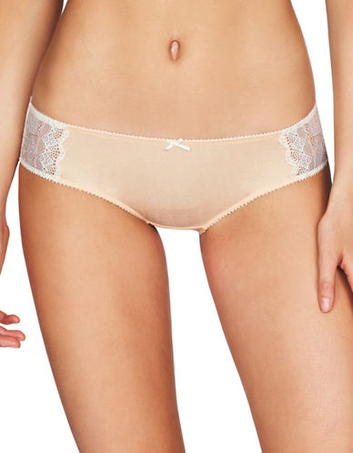 Heidi By Heidi Klum Geometric Lace Hipster Brief-BEIGE-Large