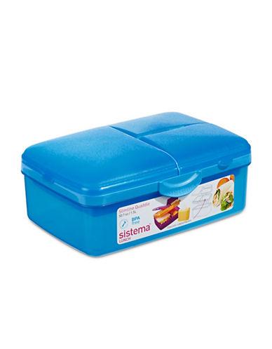 Klipit Klip-It Slimline Quaddie Container with Bottle-BLUE-One Size