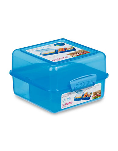 Klipit Klip-It Lunch Cube Container with Lid-BLUE-One Size