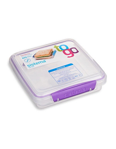 Klipit To Go Sandwich Container-CLEAR-One Size
