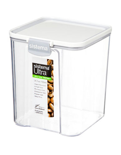 Sistema 920ml Tritan Ultra Square Canister-CLEAR-One Size