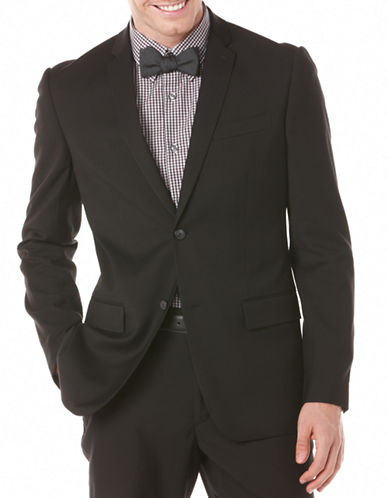 Perry Ellis Slim-Fit Travel Luxe Sports Jacket-CHARCOAL-42 Regular