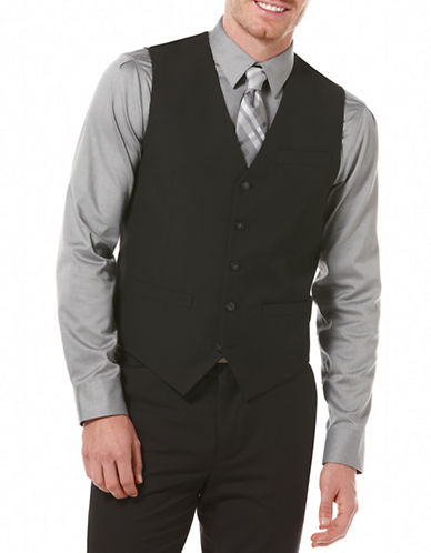 Perry Ellis Travel Luxe Wrinkle-Resistant Vest-CHARCOAL-Medium