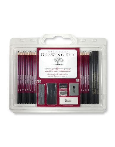 Peter Pauper Press Studio Series 26-Piece Drawing Set-MULTI-One Size