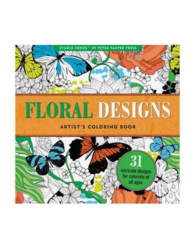 Peter Pauper Press Studio Series Floral Designs Coloring Book-MULTI-One Size