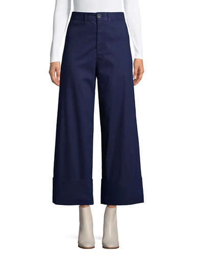 Sea Ny Classic Cuffed Pants-NAVY-2