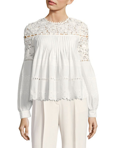 Sea Ny Pleated Lace Tunic-WHITE-6